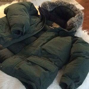 💞L.L.BEAN💞goos down fur men's coat